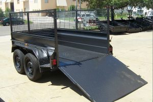 7x4 heavy duty tandem cage trailers for sale Brisbane