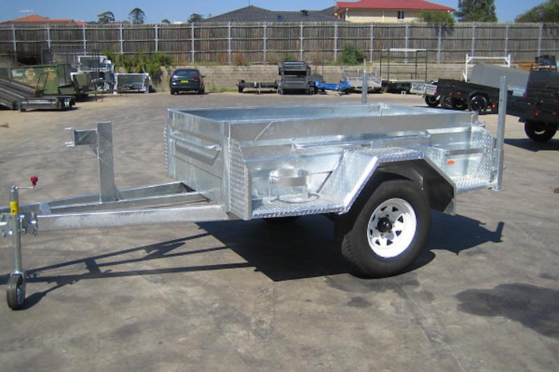 on road trailer galvanised
