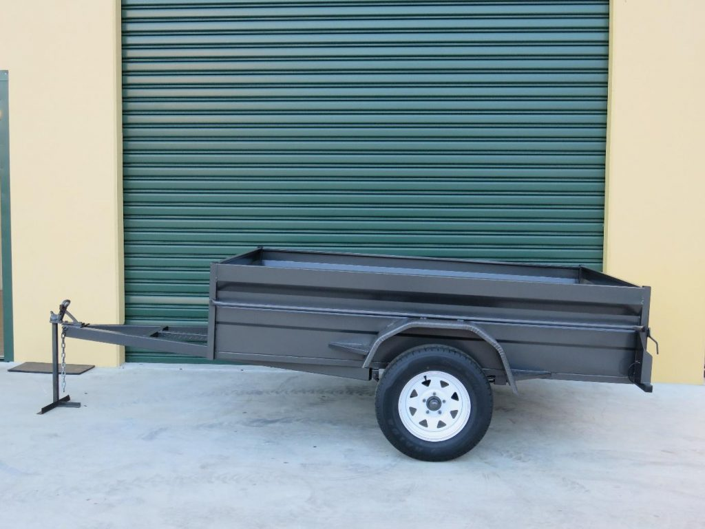 6x4 single axle heavy duty box trailers for sale