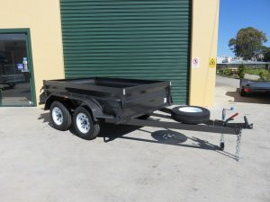 7x5 heavy duty tandem box trailers for sale