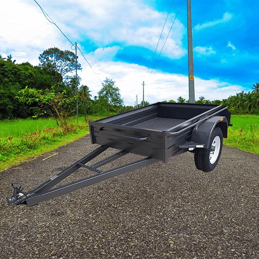 0Heavy duty box trailer (AUBOX02)