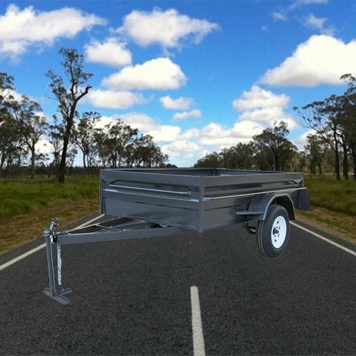 1Heavy duty high side box trailer with 21 inch sides (AUBOX03)
