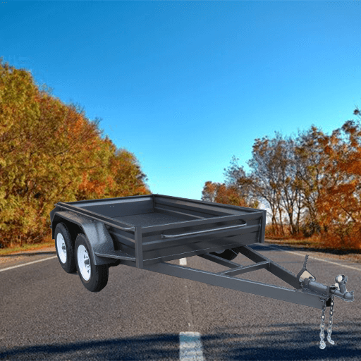 2Heavy duty tandem box trailer with std sides (AUBOX09)
