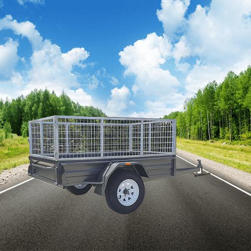 6Single axle box trailer with cage (AUBOX05)