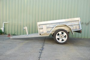 high side trailer with jerry can and gas bottle holder