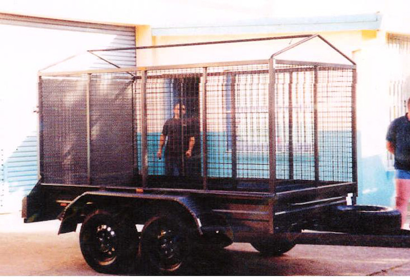 7x4 heavy duty tandem cage trailers for sale sunshine coast