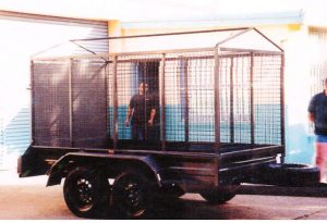 single axle heavy duty cage trailers for sale brisbane