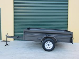 6x4 single axle heavy duty box trailers for sale